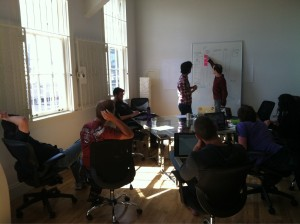 The Singly team gathered for a discussion
